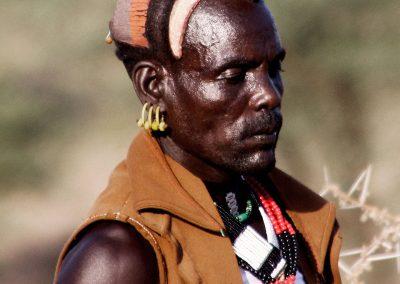 Hombre de la nación Hamer | Poblado cerca de Turmi (Valle del Río Omo), sur de Etiopía (09 de junio de 2016) | © Loreto Paredes