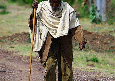 Anciano | Carretera del sur de Etiopía (14 de junio de 2016) | © Loreto Paredes Castro